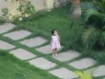 The cute little girl